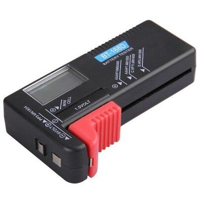 Universal Digital LCD Battery Checker Volt Tester Cell AA AAA C D 9V Button