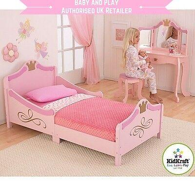 KIDKRAFT PRINCESS TODDLER BED - WOODEN GIRLS PINK JUNIOR BED