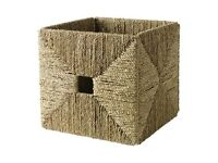 2 x Ikea storage baskets - Sea Grass
