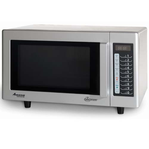 Light Duty Microwave - 20 Programmable Menu Settings, Stainless Steel Interior