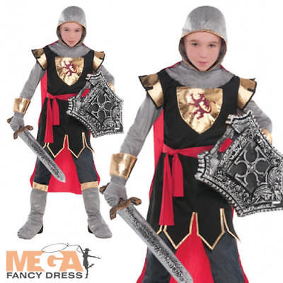 Crusader Knight Boys Fancy Dress Kids Medieval St George King Childs Costume New](King George Costume)