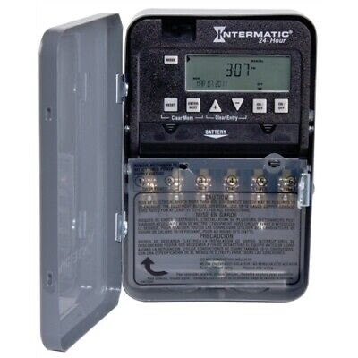 Intermatic Et1100 Series Et1125c Electronic Timer 30 A 120277 V Gray
