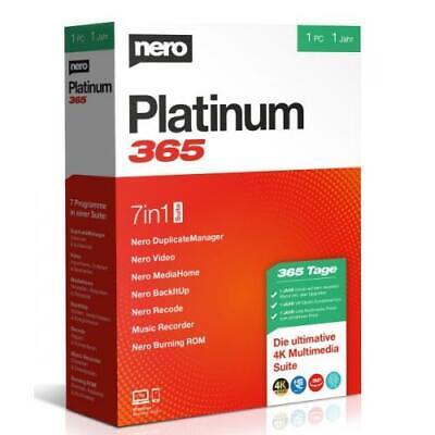 Nero Ag - Nero Platinum 365 Software  NEW