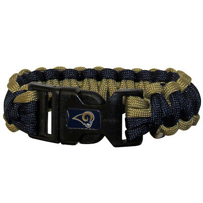 """NFL St louis Rams Survival Bracelet Paracord 9"""" Outdoor Football Jewelry"""
