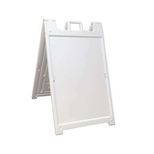Plasticade Deluxe Signicade Portable Folding Double Sided Sign, White (Used)