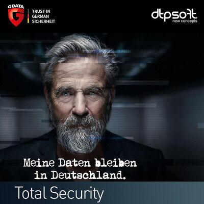 G Data Total Protection 2019 VOLLVERSION 2 PC (1+1) Total Security 2018 DE EU gebraucht kaufen  München