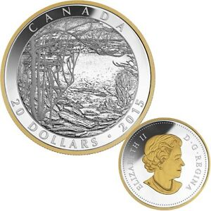 2015 $20 Pure Silver Coin - Tom Thomson: Spring Ice