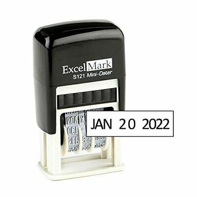 New Excelmark Self Inking Line Date Stamp S121 Black Ink 18 X 34
