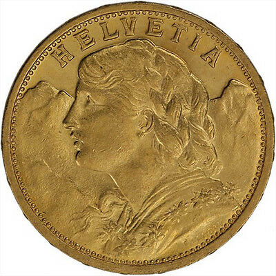 ON SALE! 20 Francs Swiss Gold Coin - Helvetia (BU)