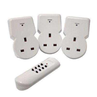 Remote Control Plug Socket AC Power Mains UK Switch Eco Energy Save Home
