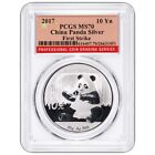 Chinese Panda MS 70 PCGS Certified Silver Bullion Coins