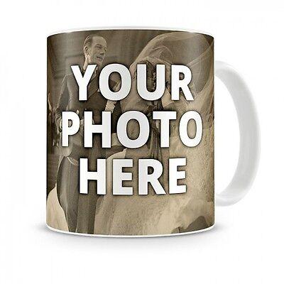 Coffee mug 11oz cup custom photo text logo personalized gift new ceramic new