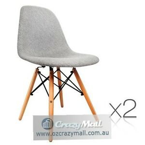 2 ABS Plastic Polyester fabric Beech wood Dining Chairs Sydney City Inner Sydney Preview