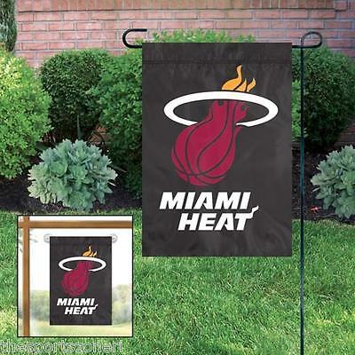 Miami Heat Applique and Embroidered Mini Garden/Window Flag ()