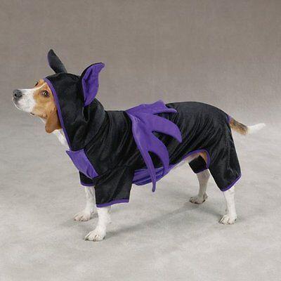 Casual Canine BAT DOG  Pet Costume - Black/Violet- Choose - Pet Bat
