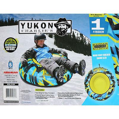 New Yukon Charlies Snow Tube, One Size, Snow Sled Outdoors