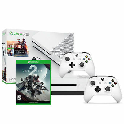 Xbox One S Battlefield 1 Bundle (500GB) + Destiny 2 + Xbox Wireless Controller