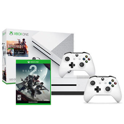 Xbox One S Battlefield 1 Scurry off (500GB) + Destiny 2 + Xbox Wireless Controller