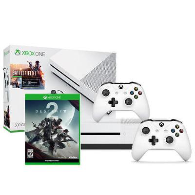 Xbox One S Battlefield 1 Bundle (500GB) + Destiny 2 + Xbox Wireless Controller