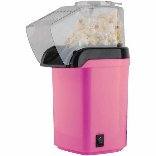 1200W Electric Popcorn Maker Pink Oil Free Healthier Pop Corn Making Machine