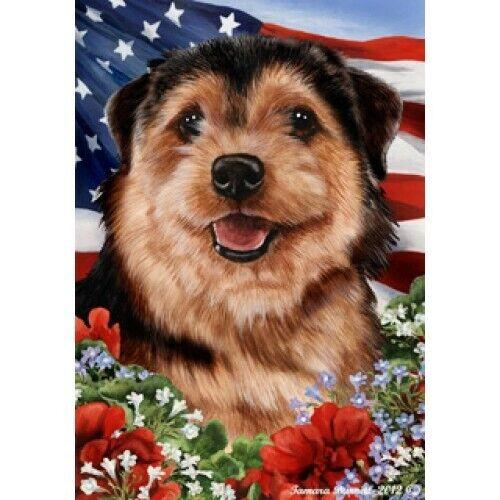 Patriotic (1) House Flag - Norfolk Terrier 16225