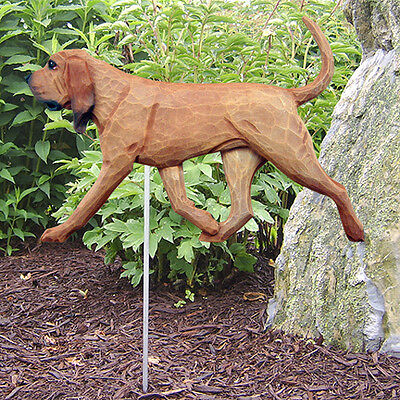 Bloodhound Outdoor Garden Sign Hand Painted Figure Red