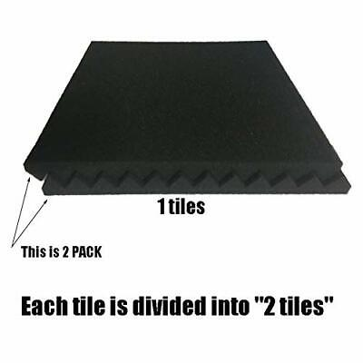"""USA 96 PACK 12""""X12""""X1"""" Acoustic Foam Panel Wedge Studio Soundproofing Wall Tiles"""
