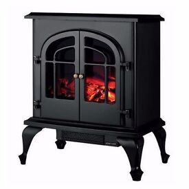 Warmlite WL46001 Stove Fire Log Effect 2000 Watt Black
