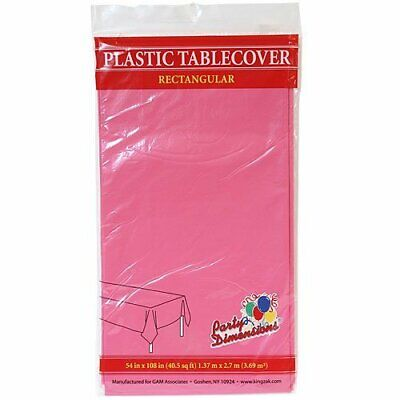 Tablecloths Hot Pink Plastic Rectangle 54