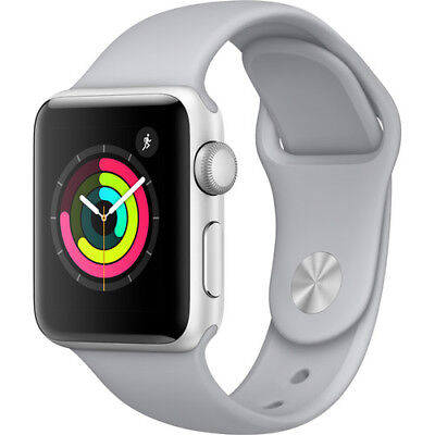 Apple Watch Gen 3 Series 3 38mm Silver Aluminum - Fog Sport Band MQKU2LL/A