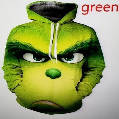 How the Grinch Stole Christmas Grinch Creative Hoodie XL Adult Sweatshirts