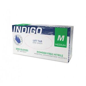 maxill Indigo Nitrile gloves- Powder Free, Medical Grade, 200/bx