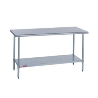 Duke 418-3096 Kitchen Work Table 96wx30dx36h Stainless Steel Flat Top