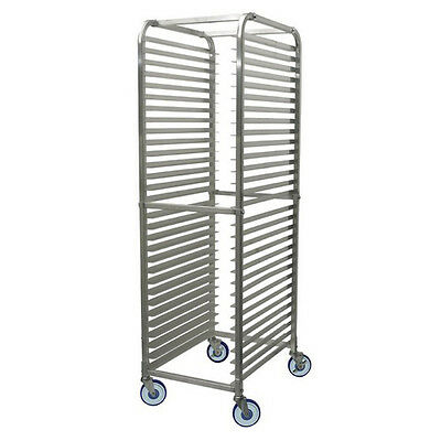 Winco Alrk-30bk 30-tier Aluminum Rack With Brake