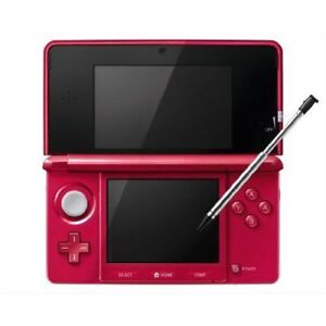 Nintendo 3DS - Red - lots of extras.