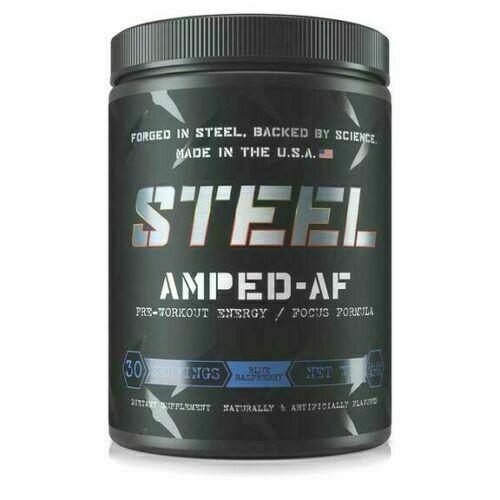 Steel Supplements AMPED-AF Pre-Workout Energy Stamina Pump 3
