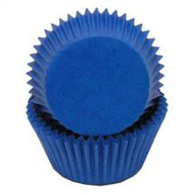 BLUE SOLID COLOR - GLASSINE CUPCAKE LINERS - 50 Ct. Standard Size