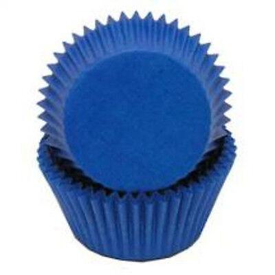 BLUE SOLID COLOR - GLASSINE CUPCAKE LINERS - 50 Ct. Standard Size