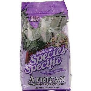Pretty Bird Species Specific African Grey Parrot Food 3.63kg 8lb Complete Pellet