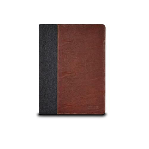 Maroo Kickstand Folio Leather Style for Microsoft Surface 3 Tablet Brown Cover