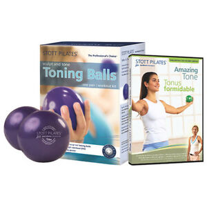 Stott Pilates DVD with toning balls