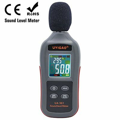 Digital Sound Level Meter Uyigao Mini Sound Measurement Testing Audio Noise D...