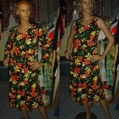 70s vintage clothes 3 pc dress skirt set jacket HAWAIIAN floral 1970s B=34 S M