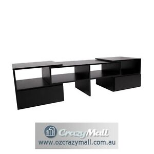 Adjustable 175CM TV Stand Entertainment Unit Black White Sydney City Inner Sydney Preview