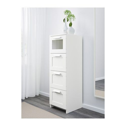 Ikea White Tallboiy Tall Narrow Chest Of Drawers Brimnes Can Deliver
