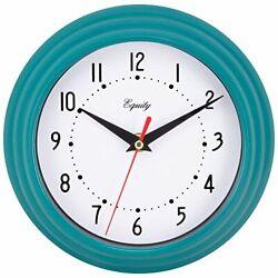 Equity by La Crosse 25020 Analog Wall Clock 8, Teal Blue