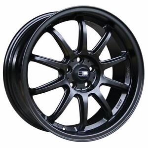 **PROMOTION** MAGS NEUFS 16'' 4 X 100/114.3 HD WHEELS CLUTCH SATIN BLACK