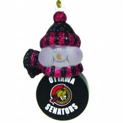 Set Of 3 Ottawa Senators  LIGHT-UP SNOWMAN  Lighted Glow Colors