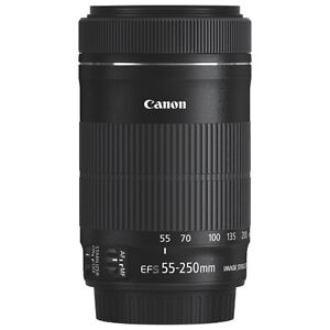 Canon 55-250mm STM IS lens w/ box