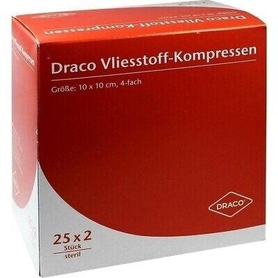 VLIESSTOFF-KOMPRESSEN 10x10 cm steril 4fach 50 St 00679291 Dr. Ausbüttel